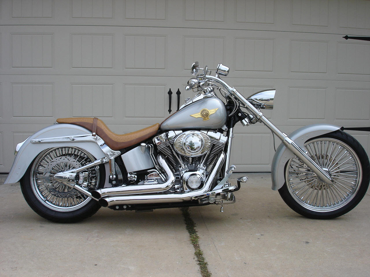 chopper kit harley davidson flst photo gallery. Black Bedroom Furniture Sets. Home Design Ideas
